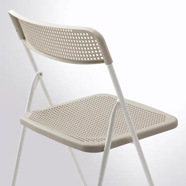 Torparo Chair In Outdoor Foldable White Beige Ikea Chair Ikea Beige Chair
