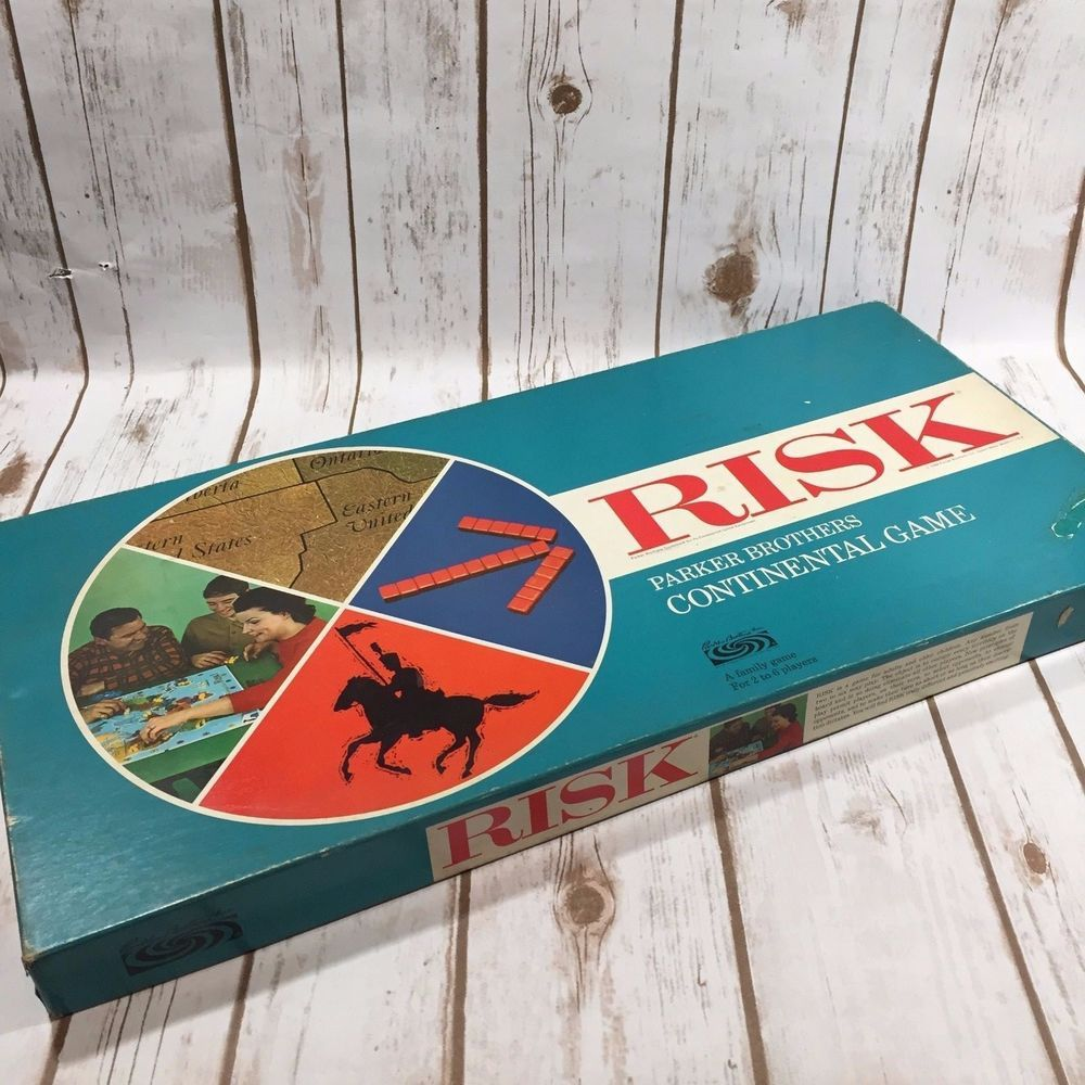 Vintage Risk Board Game Complete Original Box Early