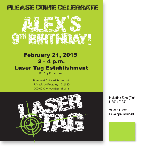 laser tag (distress look) invitations … | pinteres…, Party invitations