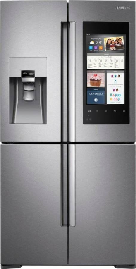 Samsung 22 Cu Ft Stainless 4 Door French Door Smart Refrigerator RF22M9581SR