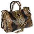 LETITIA - 24/7 Python Shopper.  Casual interpretation of a luxury bag  with spacious interior in color brown. Thanks to the shoulder strap can be worn on the shoulder. €629.00