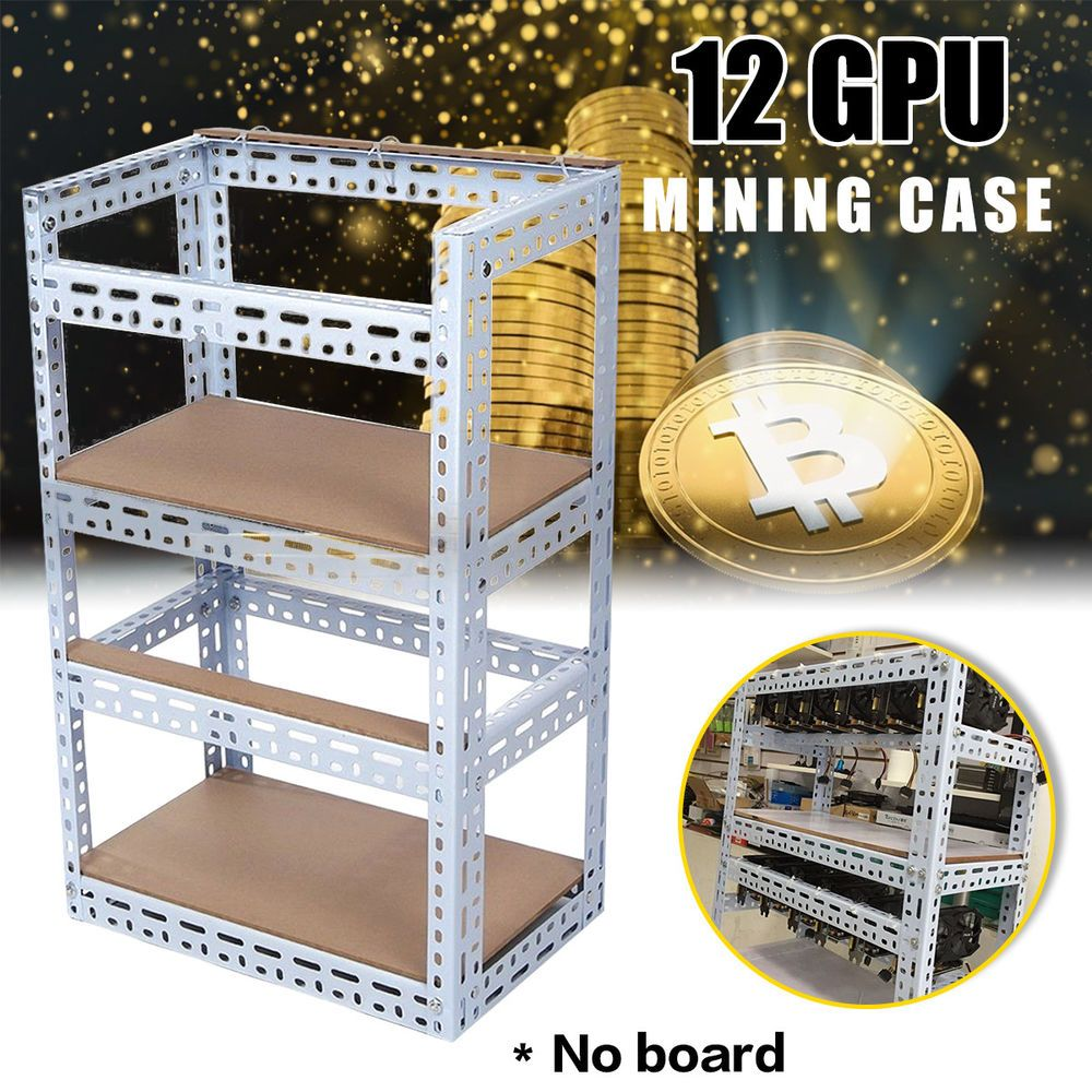 12 Gpu Crypto Coin Open Air Mining Miner Rig Graphics Frame Case For Eth Btc Bitcoin Mining Rigs Bitcoin Mining Crypto Coin