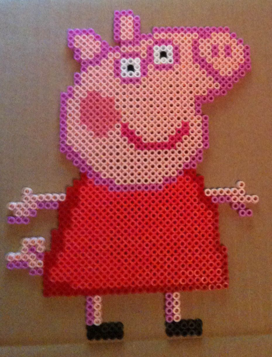 Peppa pig hama perler beads by cardinalchang on deviantart perler beads pinterest perler - Fusee peppa pig ...