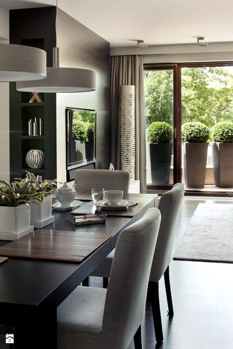 Apartament modernistyczny  Jadalnia styl nowoczesny  zdjęcie od