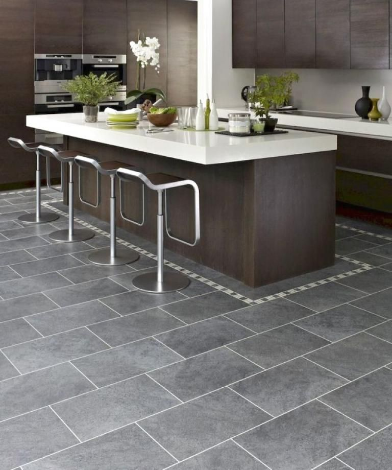 15 Stunning Gray Kitchens With Images: 35+ Beautiful Kitchen Floor Tiles Design Ideas
