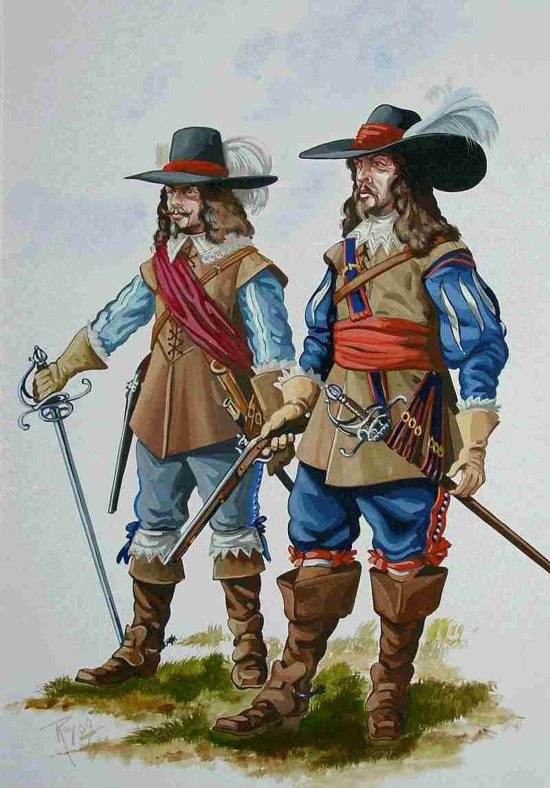 Картинки мушкетеров 17 века, нарисовать