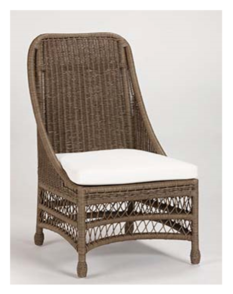 Ellicott Dining Chair Handwoven Rattan Available In Any Upholstery Fabric Now