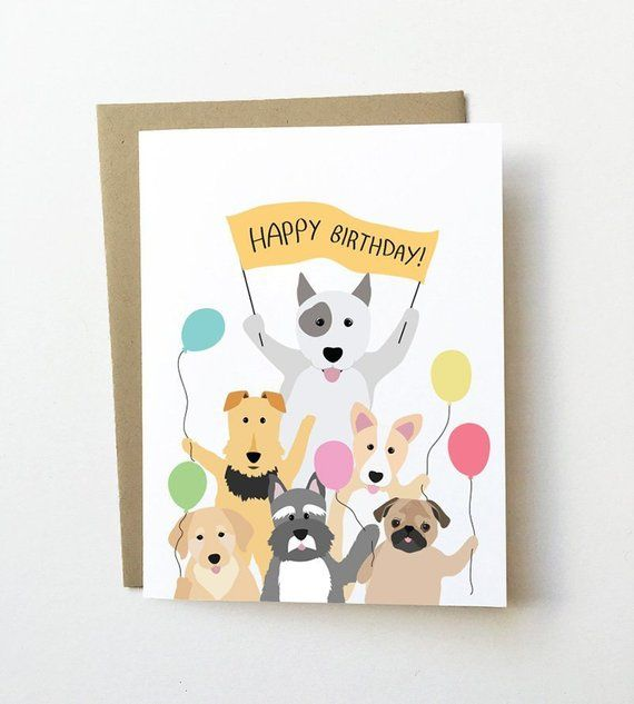 Dog Birthday Card Cute For Her Lover Cards Girlfriend Corgi