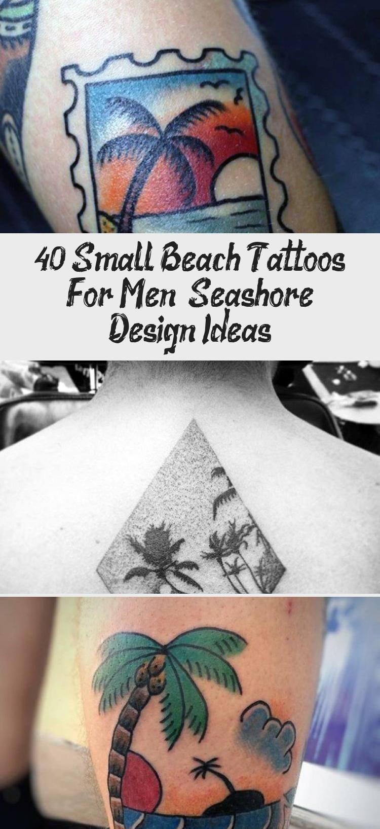Photo of 40 Small Beach Tattoos For Men – Seashore Design Ideas – Tattoos