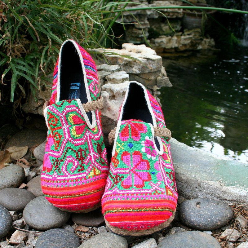 3086344a48efc Colorful Women's Loafer, Hmong Embroidered Moccasin Shoe.A cozy ...