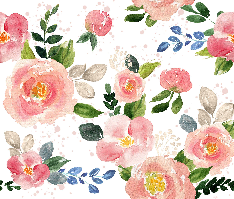 Watercolor Floral Fabrics - 31 March 2014   Brickhouse Fabrics