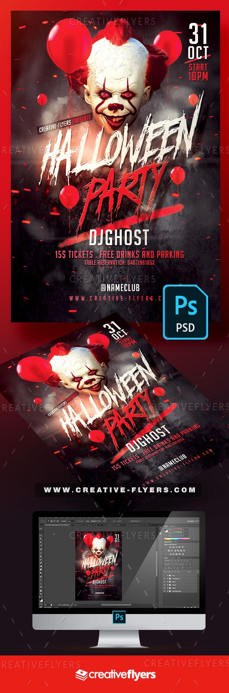 Halloween 2020 Ds Poster Halloween Flyer   Photoshop PSD en 2020