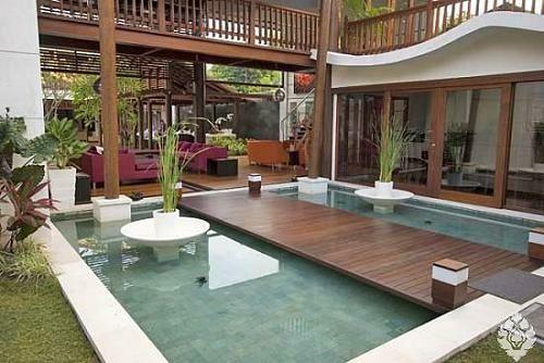 Nice kleine urbane Garten Designs bodenbelag integriert pool