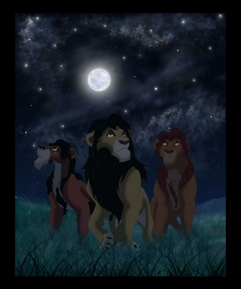 Mufasa and Scar with their father , Ahadi | My Lion King ...
