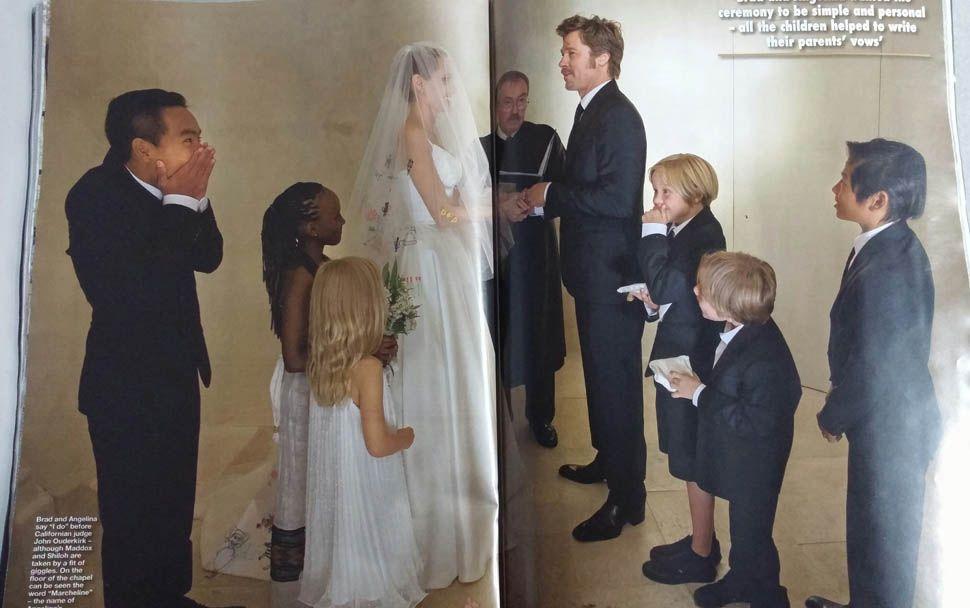 People Magazine Angelina Jolie Wedding