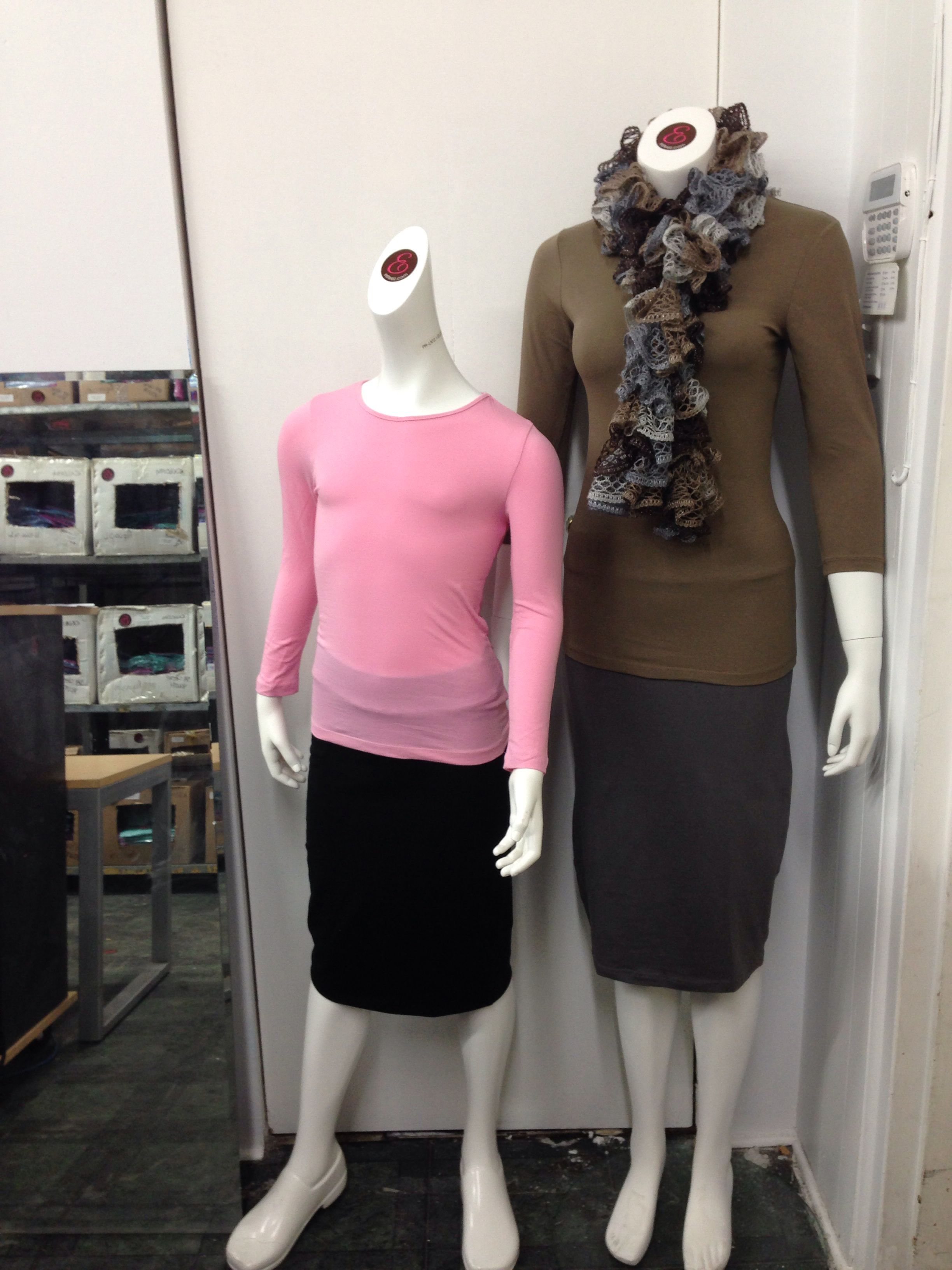 Mom and daughter both dressed for under $60. Esteez for comfortable, affordable modest apparel.