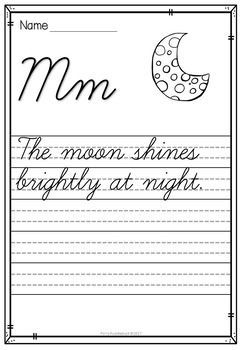 Handwriting Worksheets (Cursive Sentences) by Polly Puddleduck ...