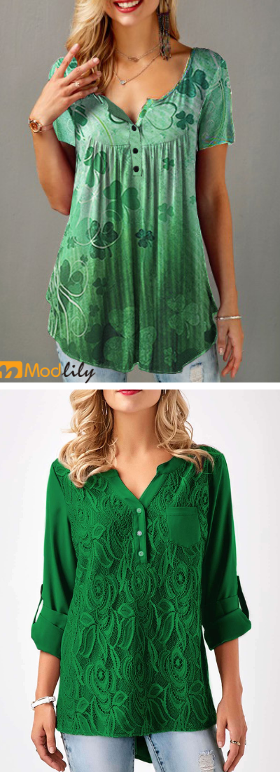 Photo of green tops, casual, cheap and comfortable, St.patricks Day o…