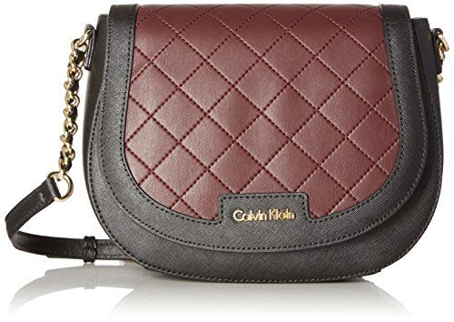 Calvin Klein Key Items Saffiano Saddle Bag Blk Rum Raisin Quilt Read More At The Image Link Bags Calvin Klein Handbags Crossbody Bag