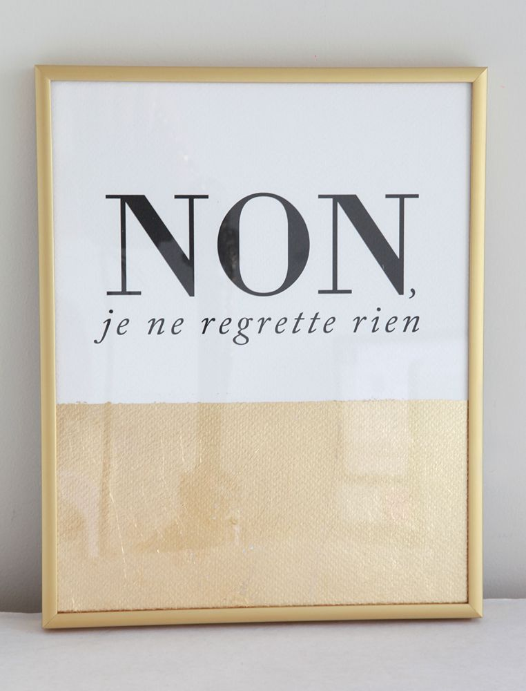 "NEW! at MADEBYGIRL.com /// NON, je ne regrette rien ""I do not regret anything"" design by Luciana"