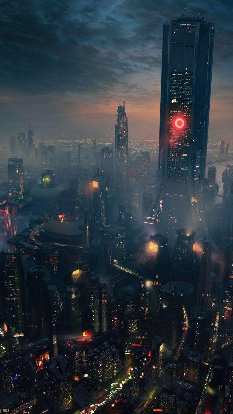 City Of Future Wallpaper Iphone Wallpapers Cyberpunk City Futuristic City Sci Fi Wallpaper