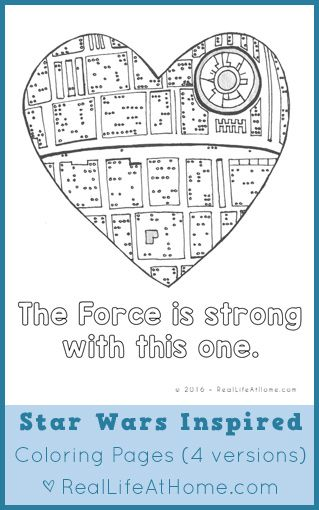 Free Star Wars Valentines Lunch Box Notes And Coloring Page