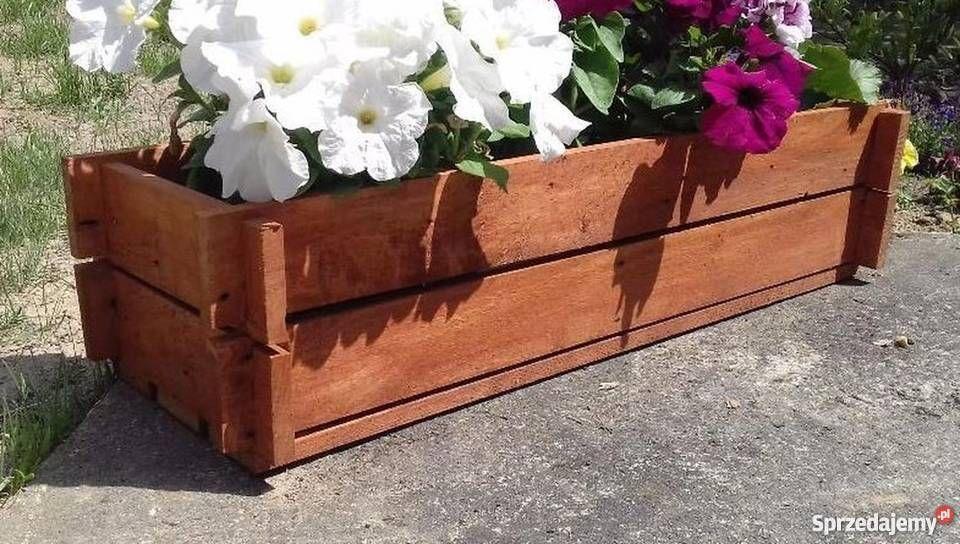 Drewniana Donica Na Kwiaty 70x25x16 Skrzynka Niemalowana Hope Chest Decor Home Decor