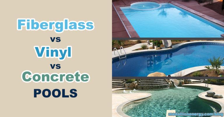 Fiberglass Vs Vinyl Vs Concrete Pools Advantages And Disadvantages In 2020 Gunite Pool Cost Fiberglass Pool Cost Concrete Swimming Pool