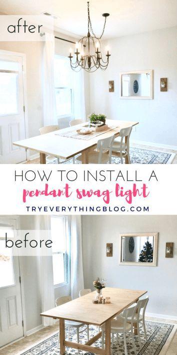 How To Install A Pendant Light Fixture And Swag It Dining Room