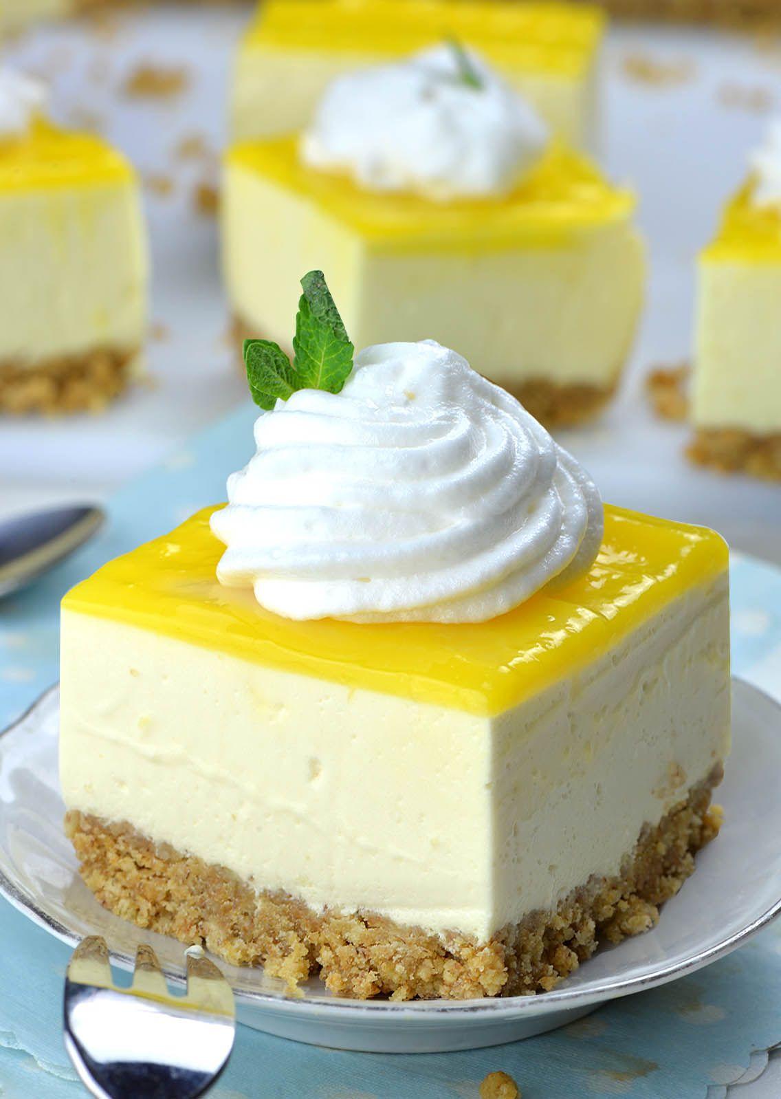 No Bake Lemon Cheesecake Bars Cheesecake Lemon Cheesecake Bars No Bake Lemon Cheesecake