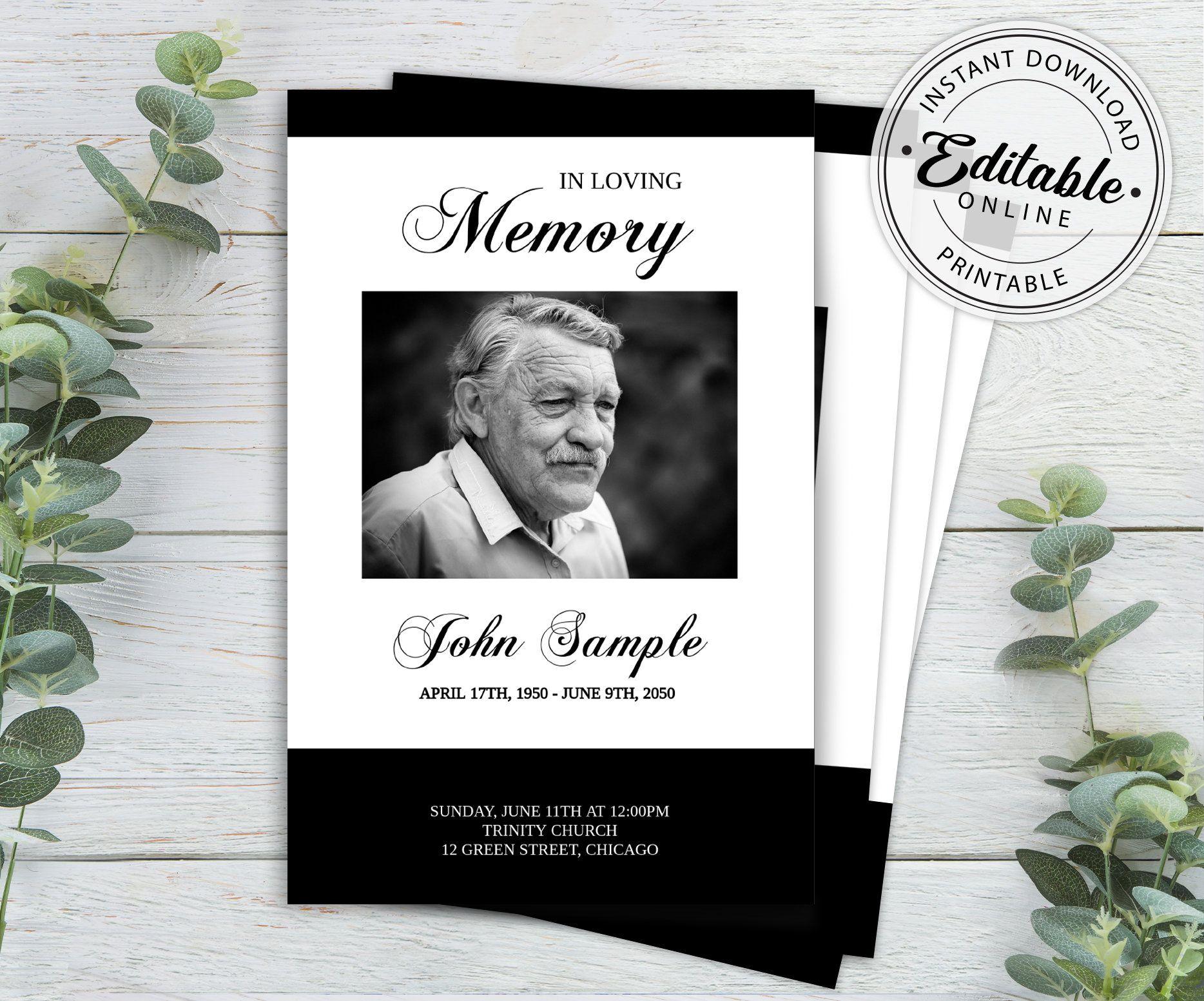 Funeral Program Template Memorial Program Template Order Of