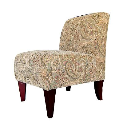 Best Armless Accent Chair Paisley Moss At Big Lots Armless 400 x 300