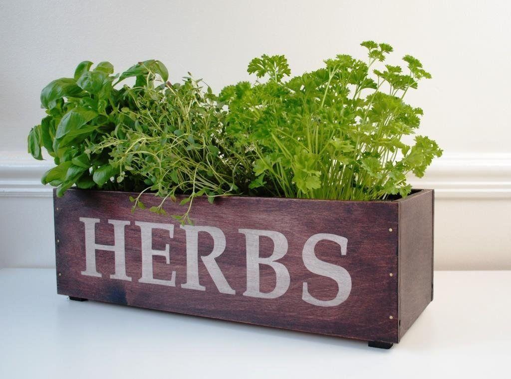 Kitchen Herb Planter Window Box Garden 3 P*T Antique 400 x 300