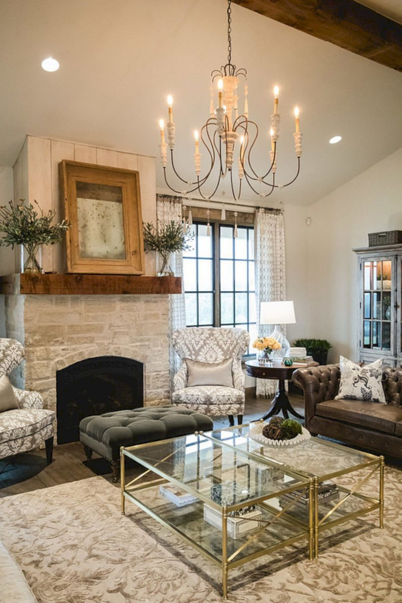 Rustic Living Room Curtains Design Ideas 52