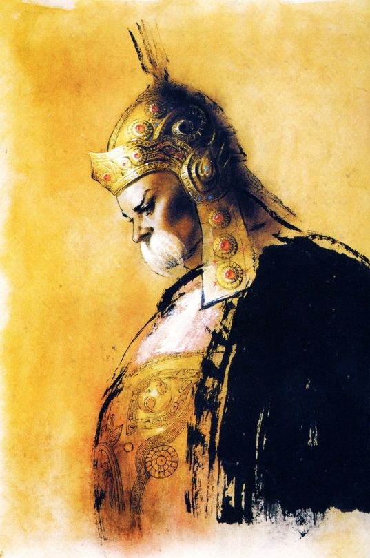 illustration   顏良   三國志 Three Kingdom   Chen Uen 鄭問   China art, Chinese painting, Chinese art