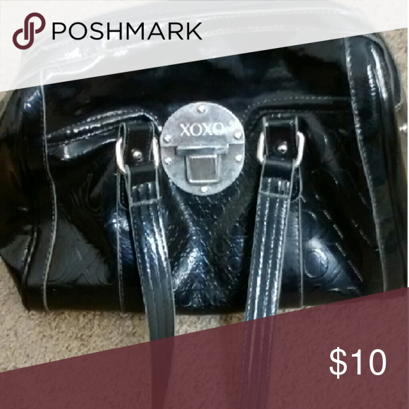 Xoxo Patent leather bag Good condition patent leather bag black from XoXo.  No holes rips or tears anywhere XOXO Bags Satchels 55c54b16e8