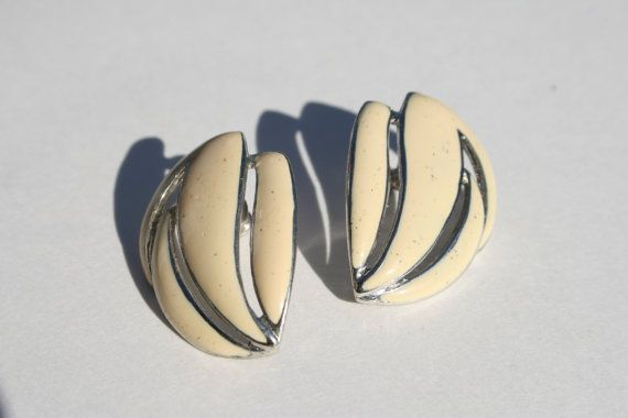 vintage pierced earrings vintage bridal by ANewDayVintage on Etsy, $9.00