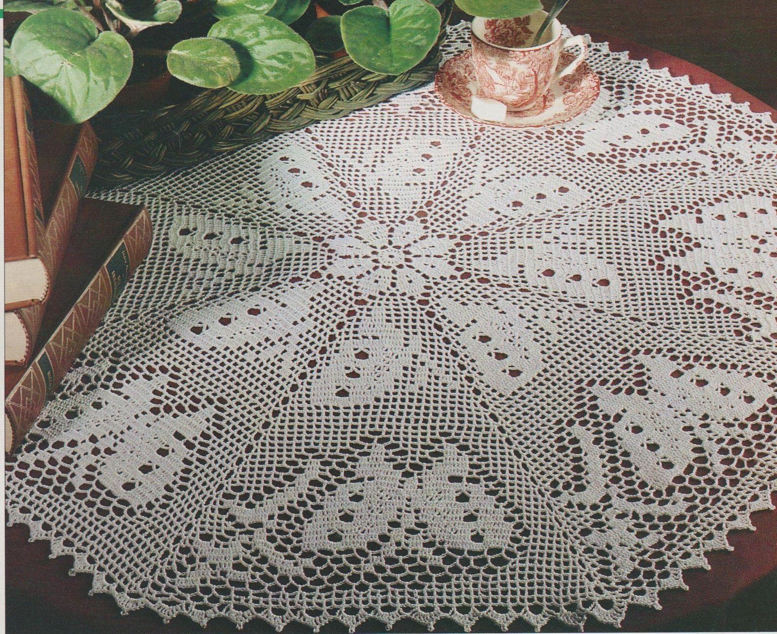 Grand Napperon Au Crochet destiné crochet : grand napperon octogonal chasse aux papillons tutoriel