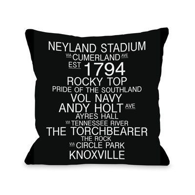 One Bella Casa Knoxville Tennessee Landmarks Throw Pillow Knoxville Tennessee Tennessee Pillows