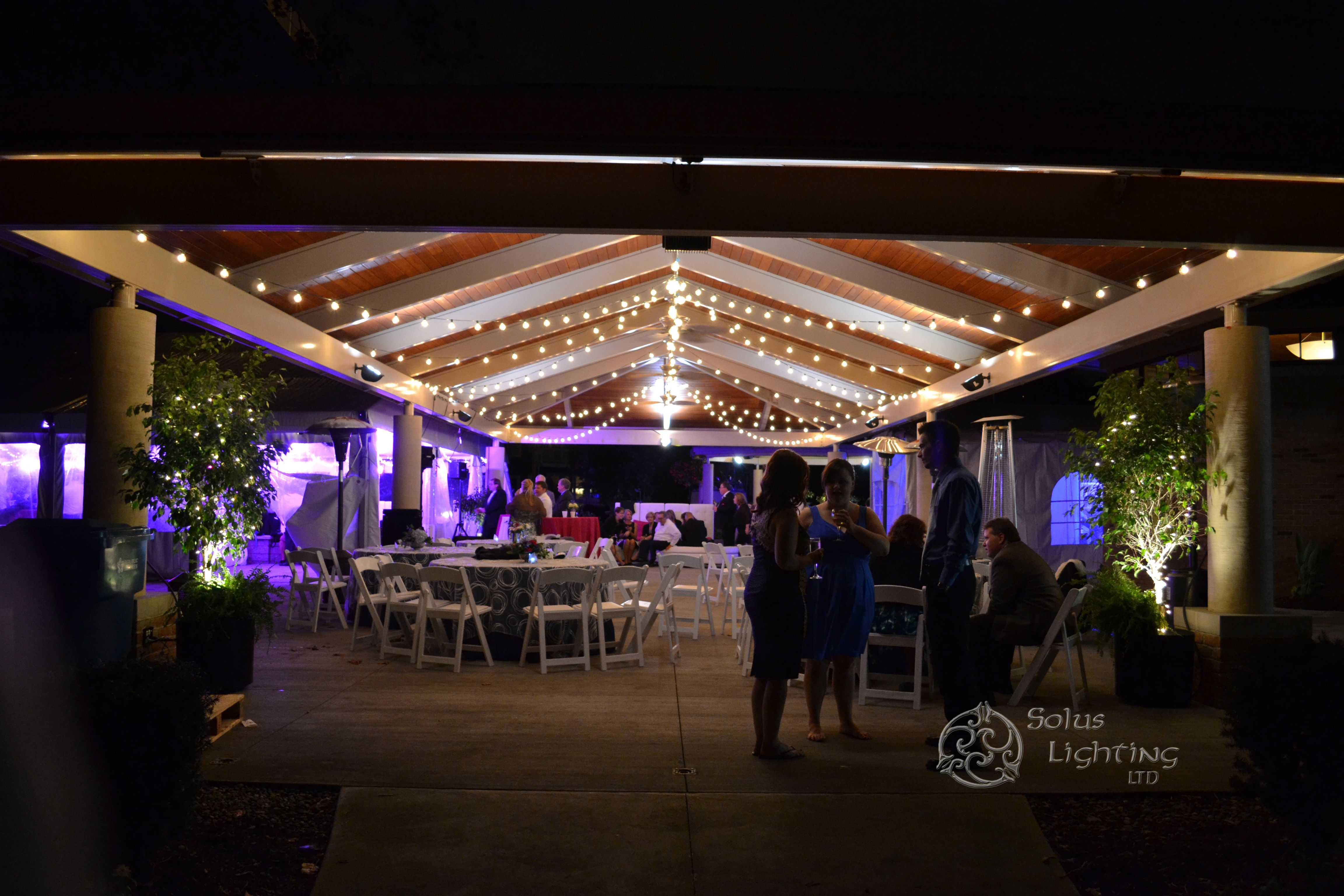 String lighting in a pavilion with LED tent lighting for a wedding in Cleveland Ohio & String lighting in a pavilion with LED tent lighting for a wedding ... azcodes.com