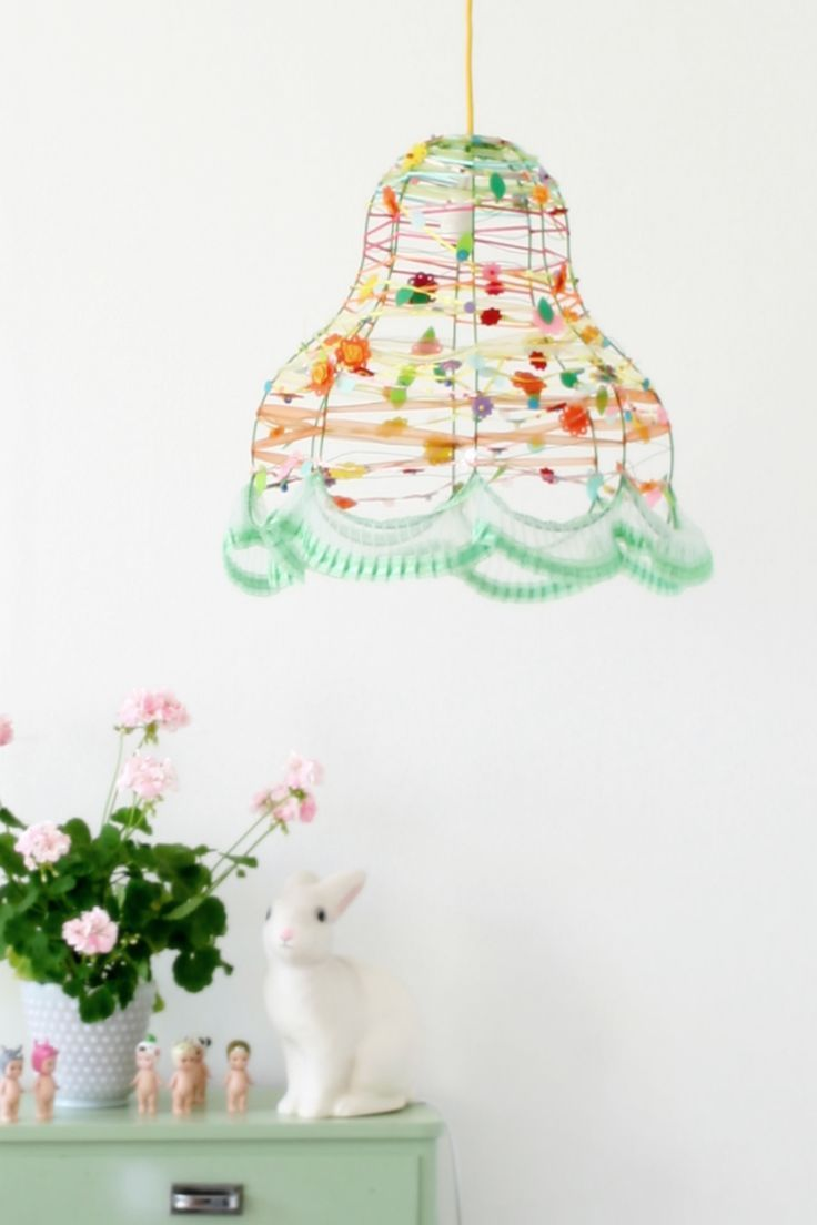 Customize a plain wire lamp with fun trim! | How-To and DIY ...