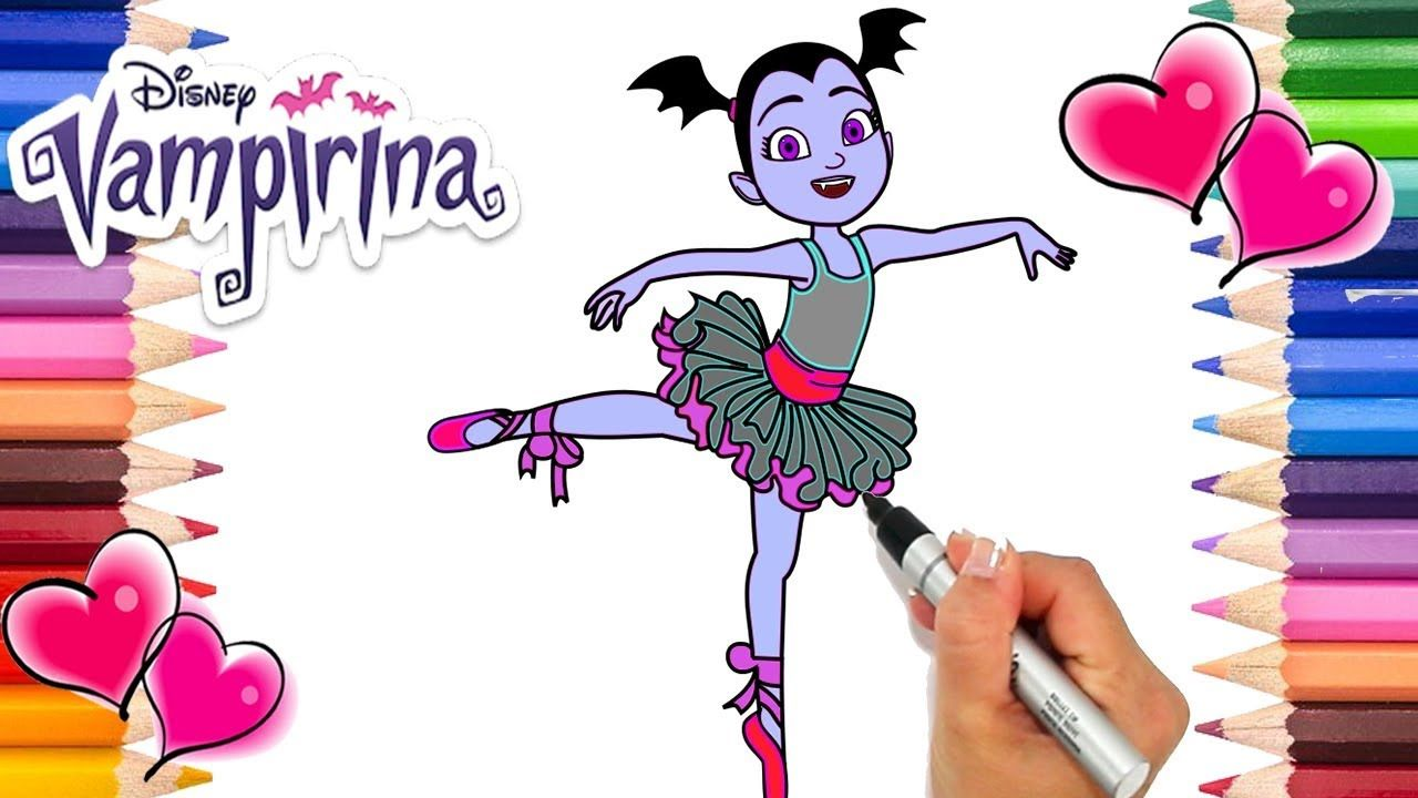 Vampirina Ballerina Dress Coloring Page Vampirina Ballerina