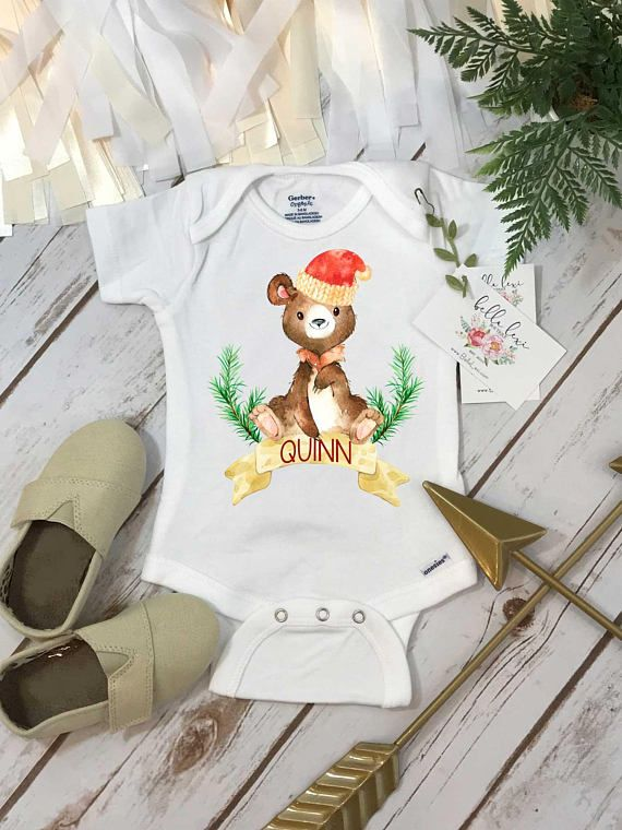 Christmas onesie personalized onesie personalized christmas babies negle Images