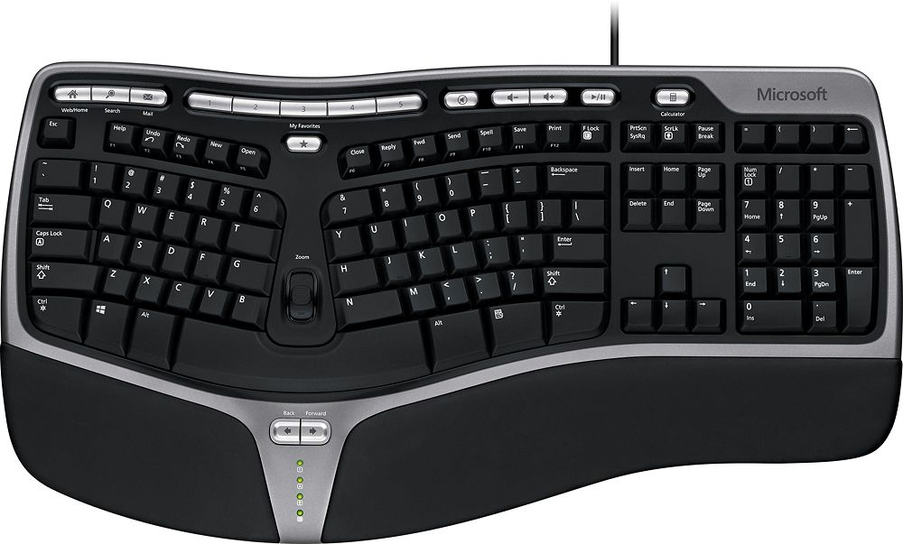 Shop Microsoft Natural Ergonomic Keyboard 4000 Black At Best Buy Find Low Everyday Prices And Buy Onli Computer Keyboard Cool Things To Buy Keyboard