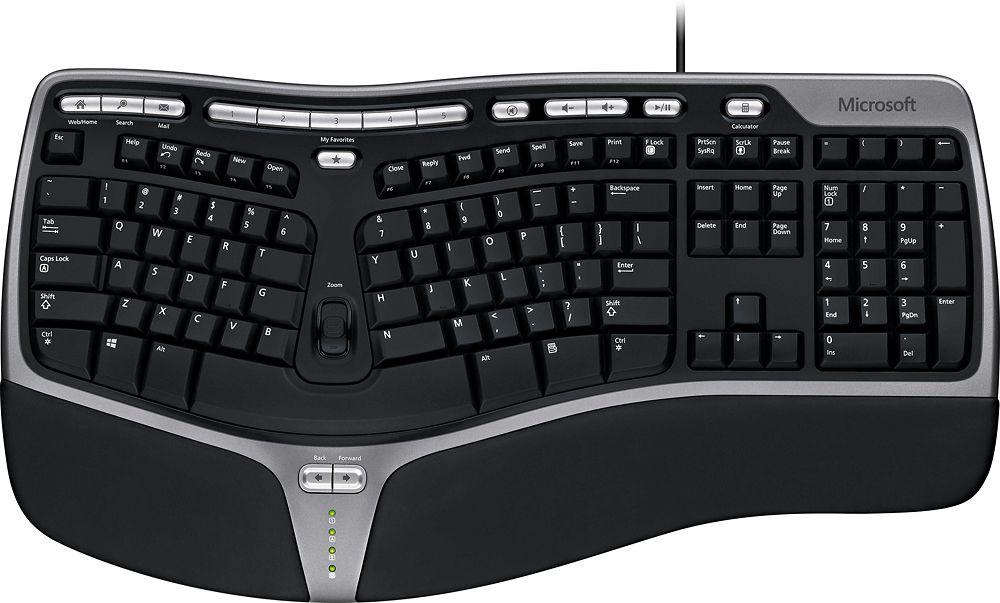 Microsoft Natural Ergonomic Keyboard 4000 With Images Keyboard Desktop Computers Computer