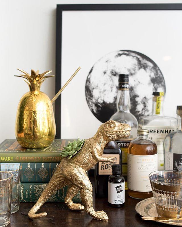 T-Rex + pineapple + 🌚 glamour shot. 🍍🐲🌵 📸: @laurametzlerphoto of @amandamc116's bar