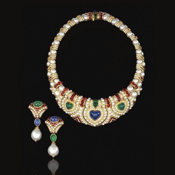 6c45305dd9197 Classic 1980 s Bvlgari necklace and earring set.   bvlgari   Pinterest