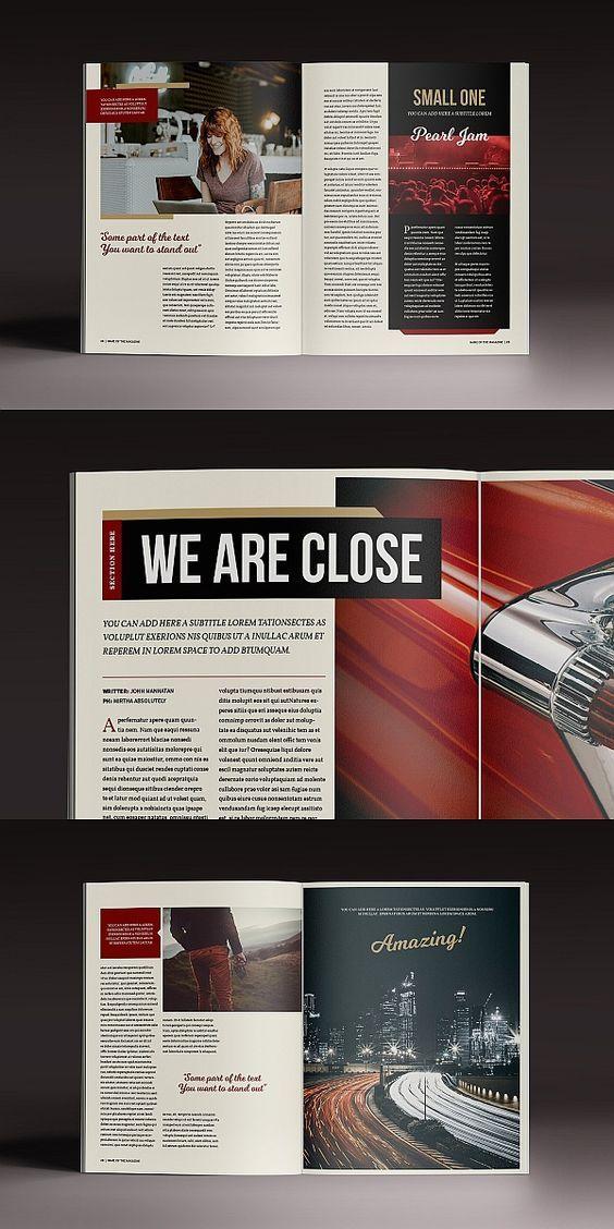 The Marshal Magazine Template Book And Magazine Design Magazine Layout Inspiration Magazine Template