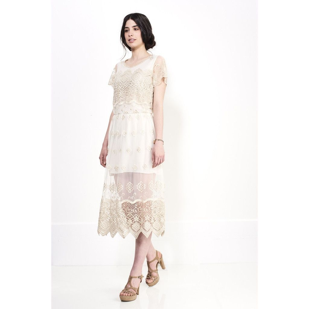 Buy glory gold lace dress at tuet for only gold