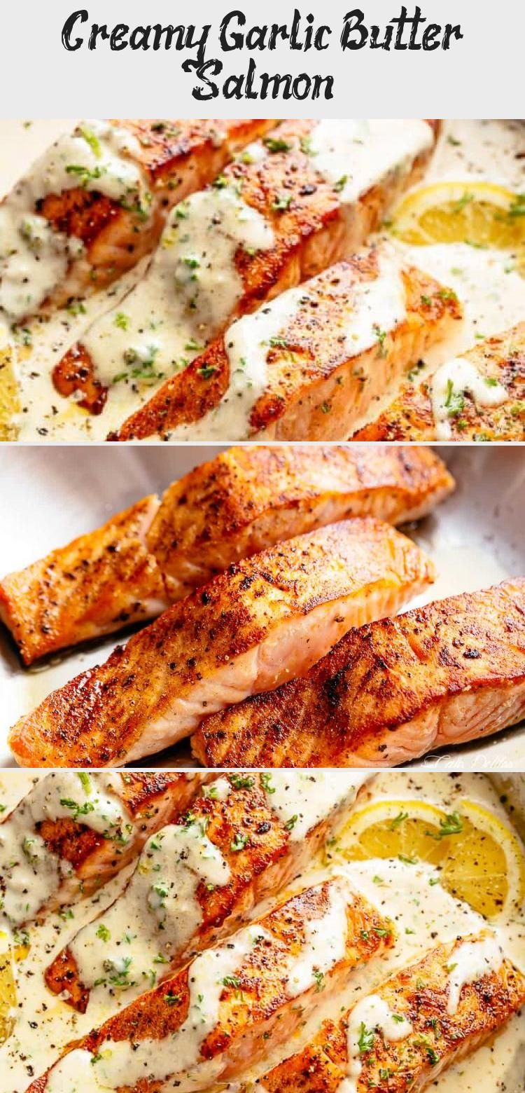 Photo of Deliciously seasoned, pan seared salmon filets — juicy and tender on the insid…